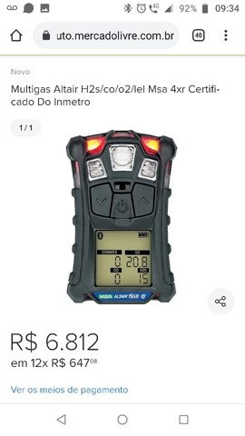 Detector multigas Altair4XR