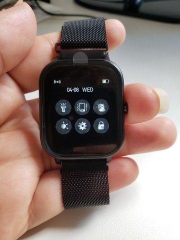 Smartwatch Colmi P8 Pulseira de Metal Preto Notificações - Foto 2