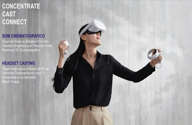 Oculus Quest 2 Advanced All-in-one Vr Headset 256gb - Foto 5