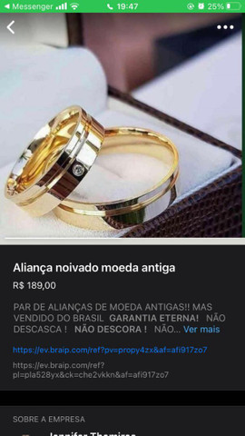 Alianças de compromisso e noivado - Foto 2