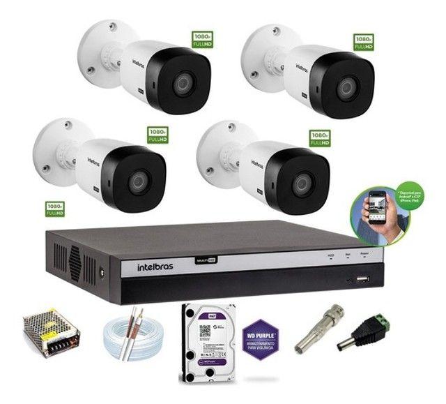 Câmeras De Segurança Kit completo 4cameras
