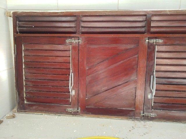 Janelão 150cm x 80cm de madeira de lei Massaranduba - Foto 6