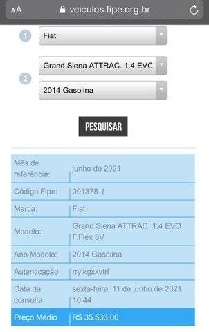 Grand Siena 1.4 2014 + Completo - Foto 7
