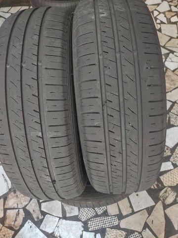 2 pneus 195/65 aro 15 semi-novo - Foto 4