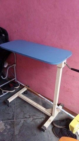 Cama hospitalar com colchao  + cadeira+mesa+andador  - Foto 3