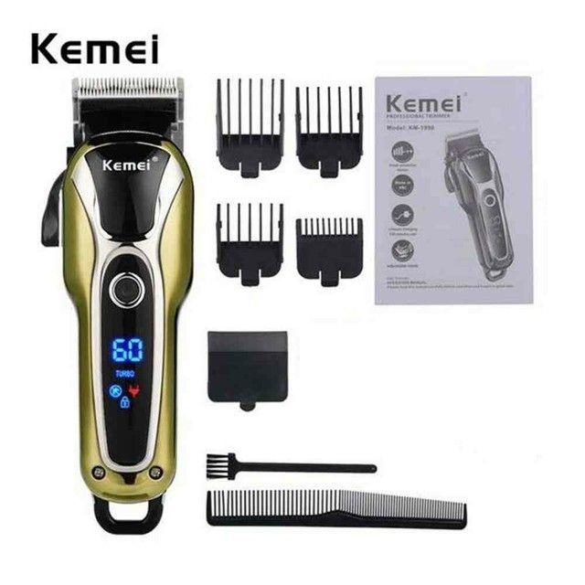 Máquina de cortar cabelo kemel sem fio  - Foto 2