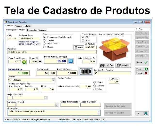 Sistema para Controle de Locação em geral de Maquinários, Equipamentos, Roupas, Fantasias - Foto 2
