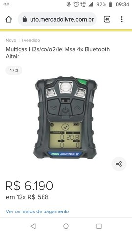 Detector multigas Altair4XR - Foto 2