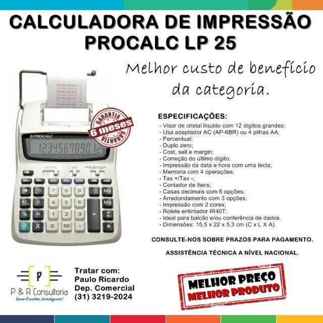 Calculadora de Impressão e Bobina LP25.