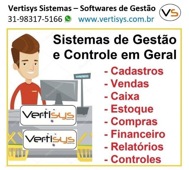 Sistema de Gestão. Cadastros, Estoque, Caixa, Financeiro, Vendas, Compras, Relatórios