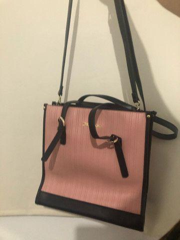 Bolsa rosa e preta chicafiore  - Foto 2