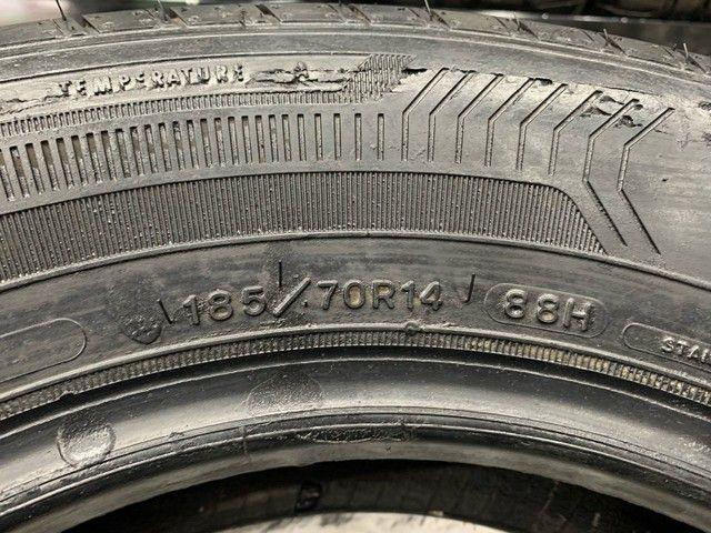 Par de Pneus 185/70/14 Goodyear EfficientGrip Performance (Usados) R$299,00  - Foto 4