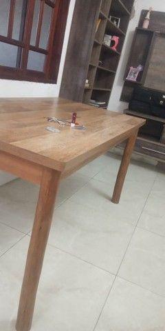 Mesa de Mdf com pés de madeira maçiça de Eucalipto - Foto 4