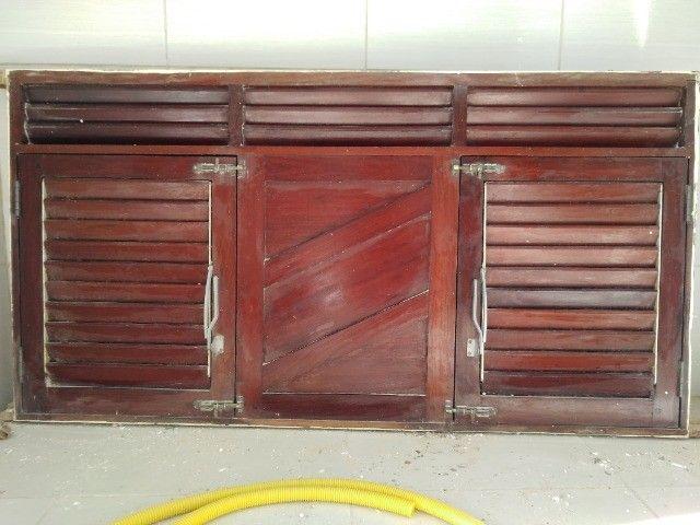 Janelão 150cm x 80cm de madeira de lei Massaranduba - Foto 5