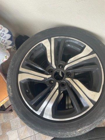 Vendo barato Rodas 17  5 furos zeradas do Honda Civic 2020 com pneus  - Foto 3