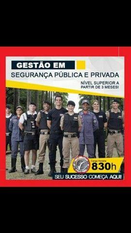 Curso Superior Sequencial Gestão em Segurança Pública e Privada. EAD 50% OFF