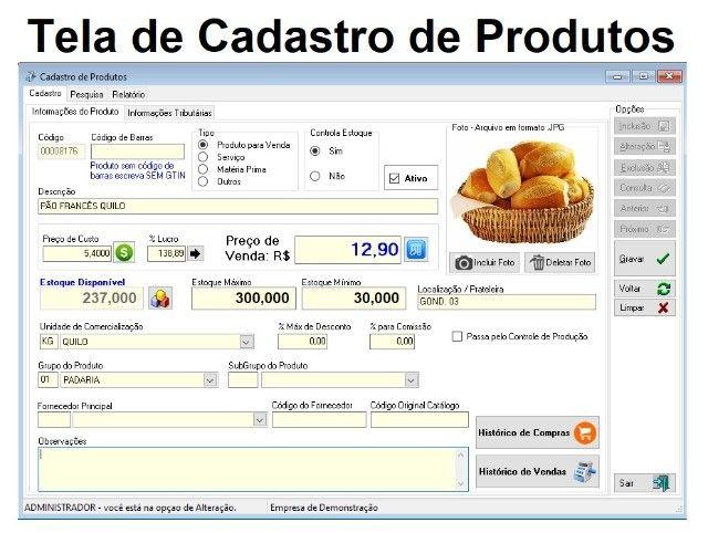 Sistema de Controle de Padarias e Mercearias, Vendas, Caixa, Estoque, Financeiro - Foto 2
