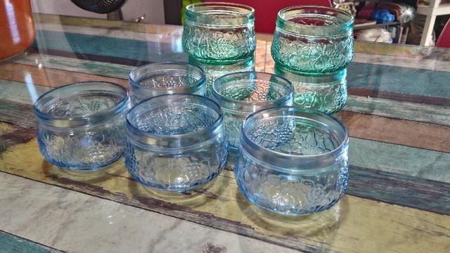 Tigela de sobremesa de vidro- kit com 9 unidades