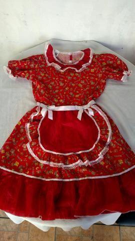 Vestido festa junina 10 anos