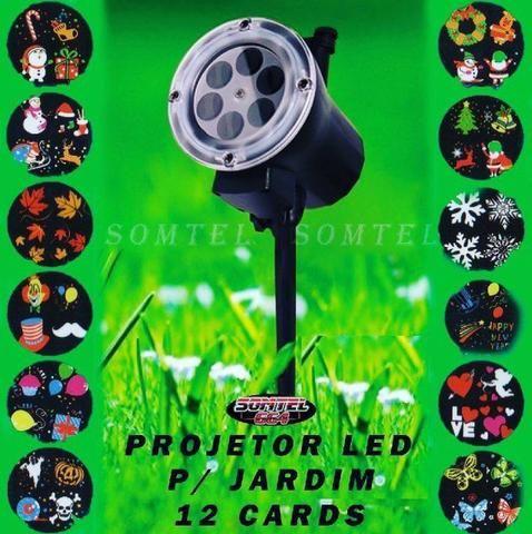 Projetor Espeto Jardim 12 cards (vários temas)
