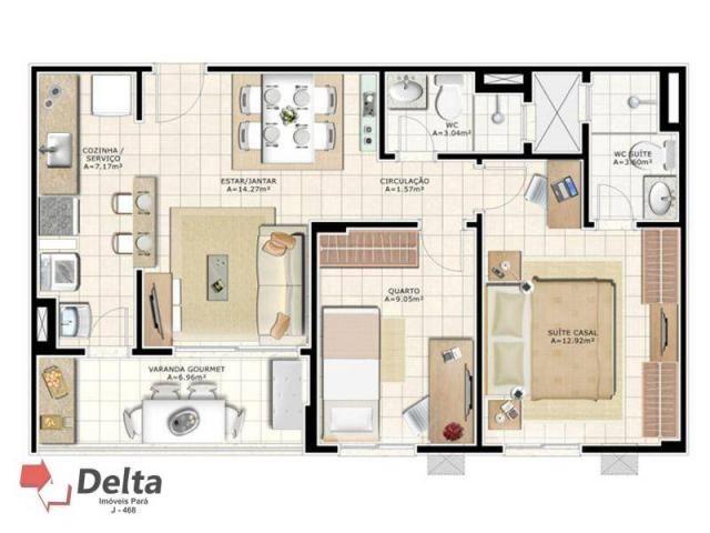 Varanda castanheira. apartamento com 2 dormitórios para alugar, 68 m² por r$ 1.650/mês - a - Foto 5