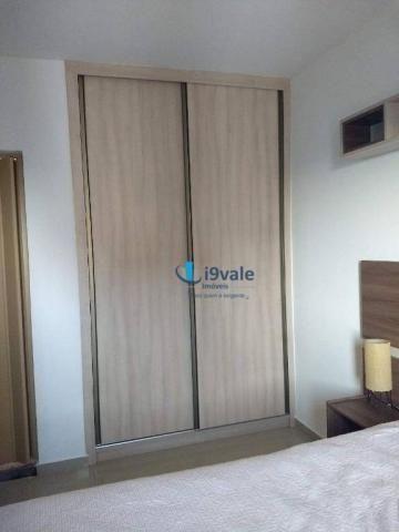 3 dormitórios sendo uma suíte e sacada na sala - jardim das indústrias - jacareí - Foto 9