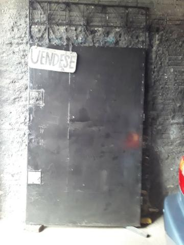 Portão de ferro todo na chapa uma banda 320 confira * - Foto 3