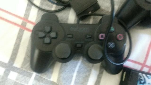 PS2, bem Cuidado, 3 controles e jogos - Foto 5