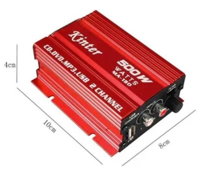 Mini Amplificador Modulo Kinter Ma-150 500w 2 Canais - Foto 3