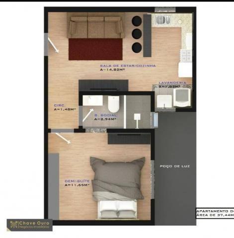 Apartamento à venda, 45 m² por R$ 181.000,00 - Jardim Santa Maria - Toledo/PR - Foto 2