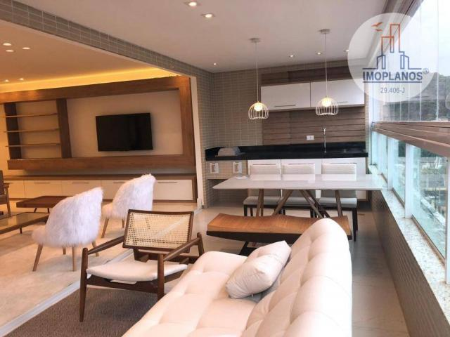 Belíssimo apartamento com 3 dormitórios à venda, 124 m² por R$ 837.585 - Canto do Forte -  - Foto 4