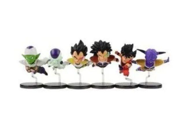 Dragon Ball Kit 6 Miniaturas Boneco Goku Freeza Piccolo - Foto 2