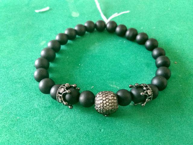 Bracelete Zircônias Pretas - Foto 5