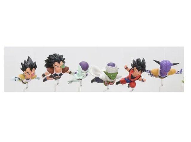 Dragon Ball Kit 6 Miniaturas Boneco Goku Freeza Piccolo