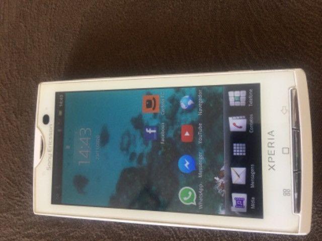 Celular Sony Ericssom xperia Branco - Foto 2