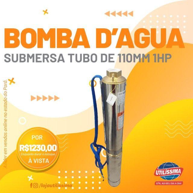 Bomba submersa 1 HP , tubo de 110 mm, joga ate 89 metros de altura modelo claw - Foto 6