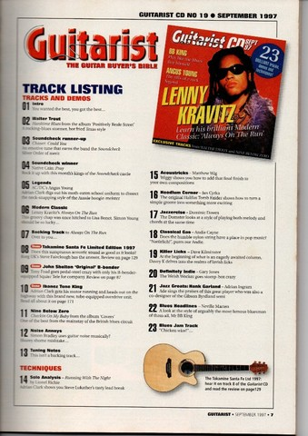 Revista Guitarist + CD com Backing Tracks (Setembro de 1997) - Foto 3