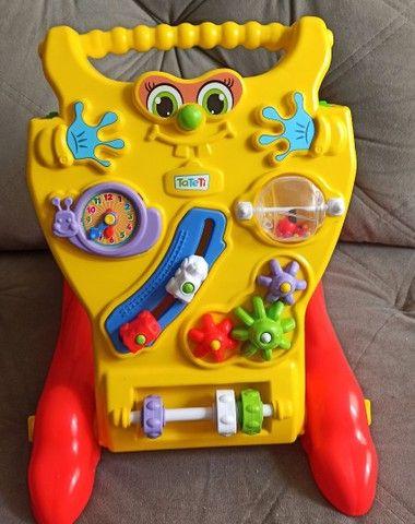 Andador Andador Infantil Para Bebê Educativo 2 Em 1 Menino E Menina