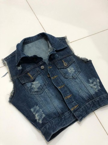 Colete jeans escuro - Foto 2