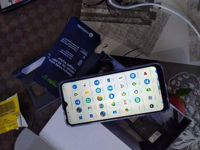 Troco Motorola G9 play 64 gb, azul safira