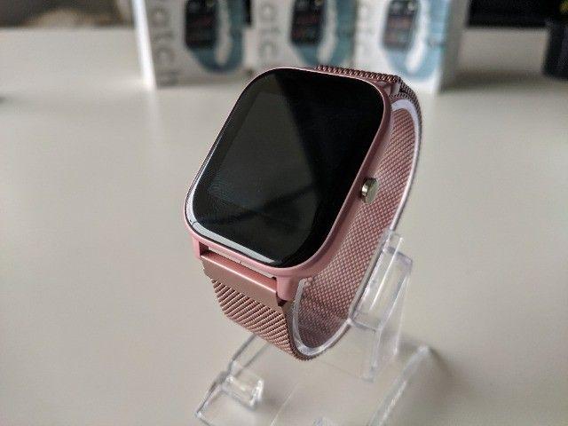 Smartwatch Colmi P8 Pulseira de Metal Notificações Pink - Foto 6