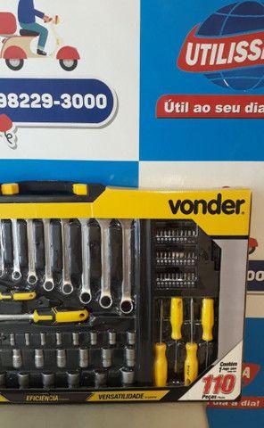 Jogo de ferramentas com maleta 110 peças/Vonder ? Entrega grátis - Foto 2