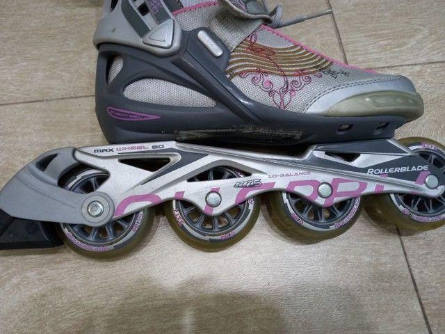Patins rollerblade novinho - Foto 3