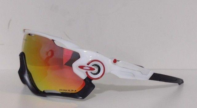 Óculos Ciclismo Oakley Jawbreaker Branco - Foto 2