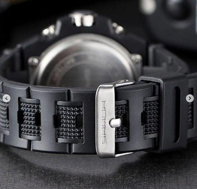 Relógio Luxo Militar Sanda a prova D'água - Foto 2