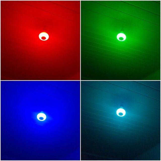 Lâmpada colorida bluetooth  - Foto 4