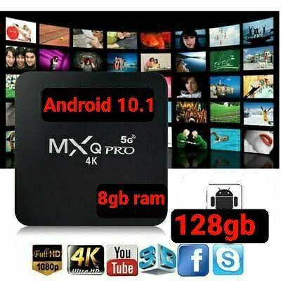 Tv box com aplicativos gratuitos Android 10.1 8gb ram 128gb