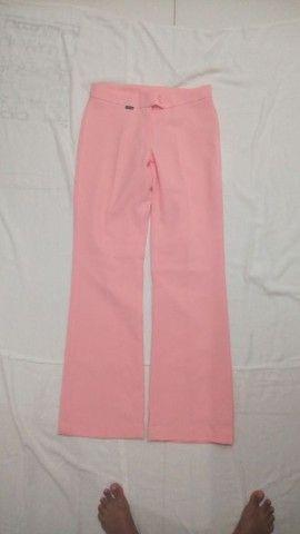 Calça social pantalona rosé Charisma