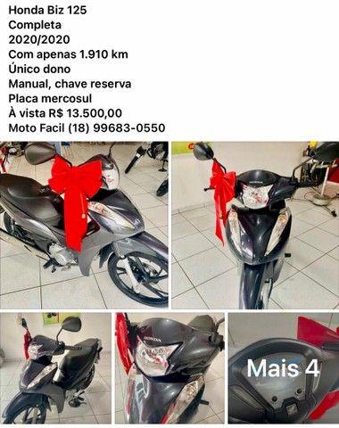 Honda Biz 125 com 1.910 km - Foto 5