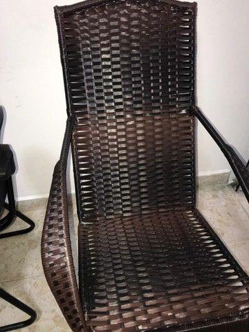 Cadeira de balanço em fibra - Foto 3